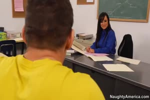 Lisa Ann Seduces Her Student and Fucks On Her Desk