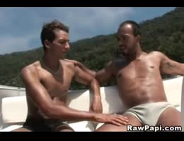 Latino Hunks Fucking Barebacked Gay Sex on the Boat