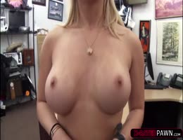 Blonde with super curves gets and offer and pounds Shawn in his office